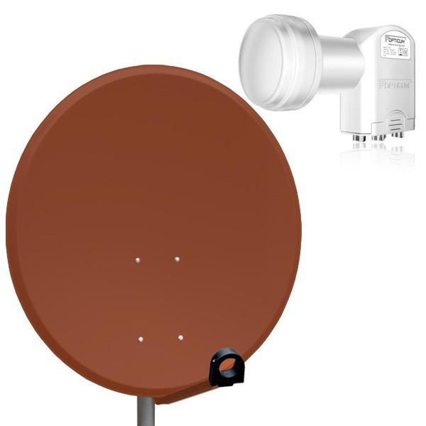 Sat anlage spiegel sch ssel antenne 80cm lnb quad opticum for Spiegel quad