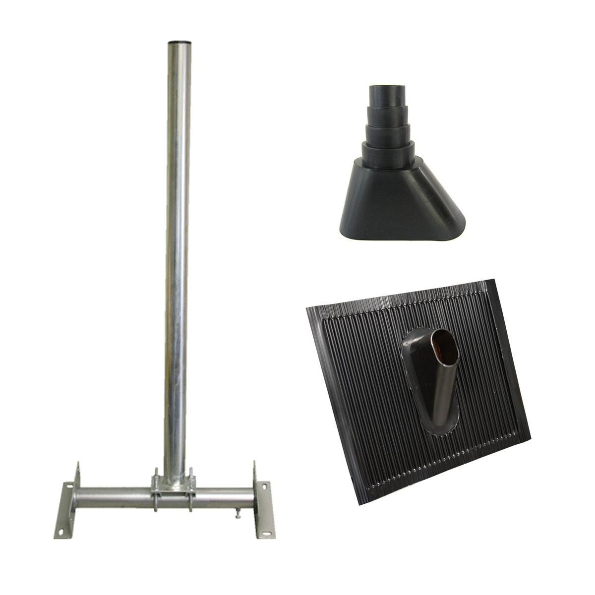 premiumx dachsparrenmasthalter 1m pxs48 gummimanschette. Black Bedroom Furniture Sets. Home Design Ideas