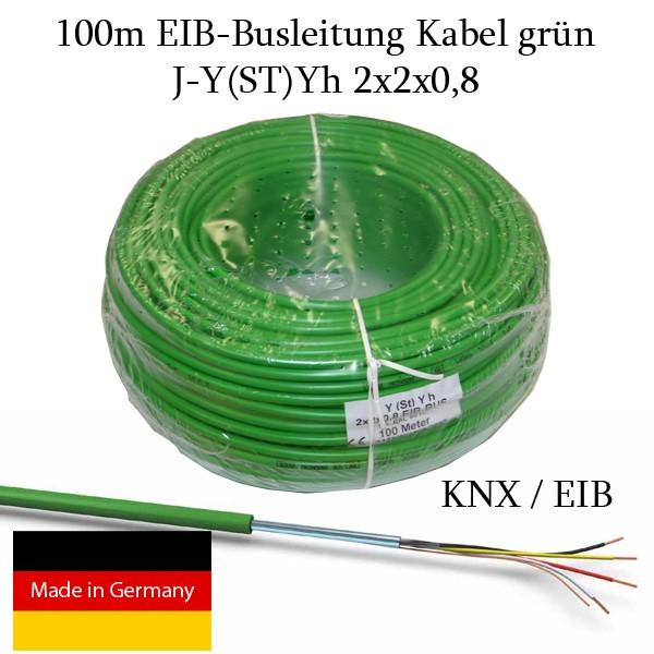 100m eib busleitung kabel gr n j y st yh 2x2x0 8 knx fernmeldekabel datenkabel ebay. Black Bedroom Furniture Sets. Home Design Ideas