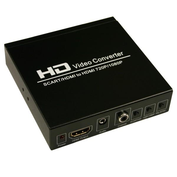 scart zu hdmi converter konverter digital analog scart auf chinch kabel adapter. Black Bedroom Furniture Sets. Home Design Ideas