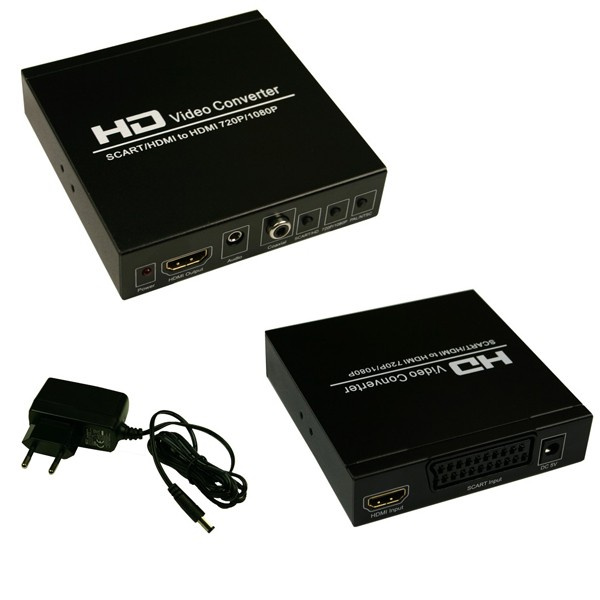 premiumx scart zu hdmi converter konverter mit skalierung auf 720p 1080p neu ebay. Black Bedroom Furniture Sets. Home Design Ideas