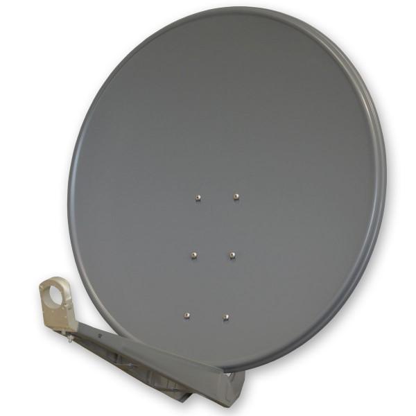 antenne premiumx deluxe100 aluminium 100cm digital sat sch ssel spiegel in anthrazit f r hdtv. Black Bedroom Furniture Sets. Home Design Ideas