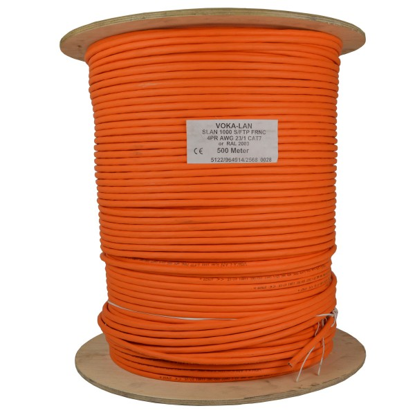 500m cat 7 kabel netzwerkkabel installationskabel verlegekabel cat7 datenkabel orange 1000mhz. Black Bedroom Furniture Sets. Home Design Ideas