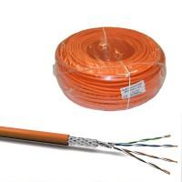 cat7 100m verlegekabel duplex 1000 mhz sftp datenkabel pimf netzwerkkabel cat 7 orange elektro. Black Bedroom Furniture Sets. Home Design Ideas