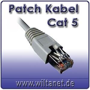 patch kabel cat 5 5 0m computer zubeh r komponenten lan kabel. Black Bedroom Furniture Sets. Home Design Ideas