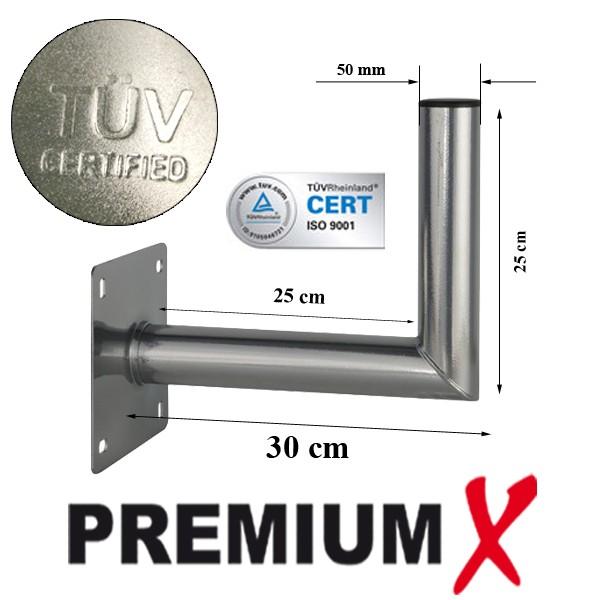 premiumx wandhalter 25 30 cm stahl 25cm 30cm wandhalterung sat sch ssel montage stabil t v. Black Bedroom Furniture Sets. Home Design Ideas