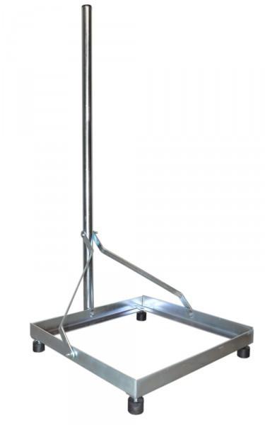 balkonst nder alu 40 x 40 platte 1m mast f r 100cm sat sch ssel spiegel stabil ebay. Black Bedroom Furniture Sets. Home Design Ideas