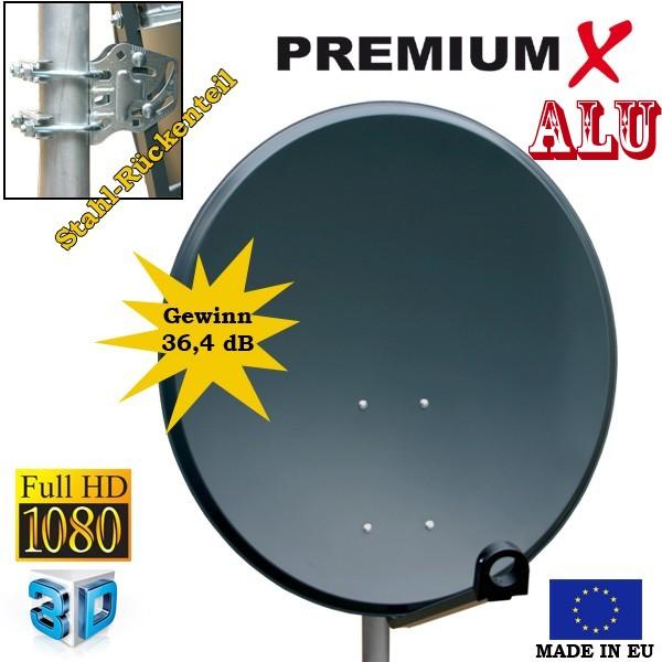 antenne 60cm sat sch ssel alu fullhd satelliten spiegel 60 cm anthrazit digital. Black Bedroom Furniture Sets. Home Design Ideas