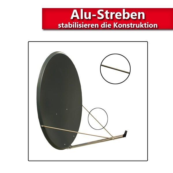 antenne premiumx 120cm alu sat spiegel satelliten sch ssel fullhd hdtv 4k 3d ebay. Black Bedroom Furniture Sets. Home Design Ideas