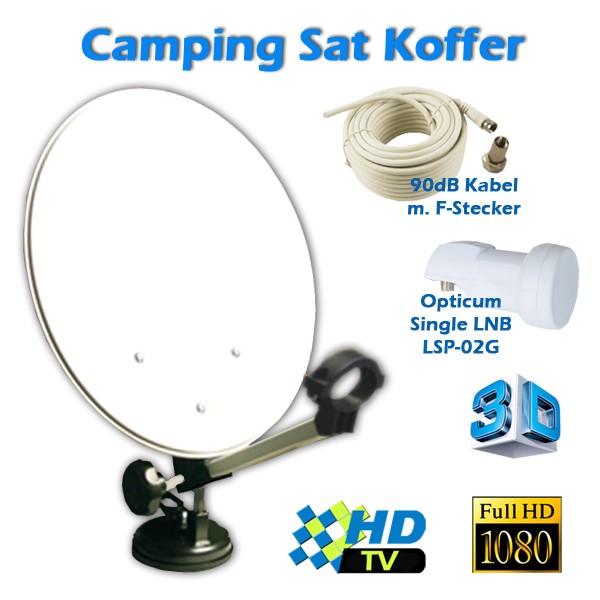 camping sat anlage set im koffer digital lnb kabel ebay. Black Bedroom Furniture Sets. Home Design Ideas