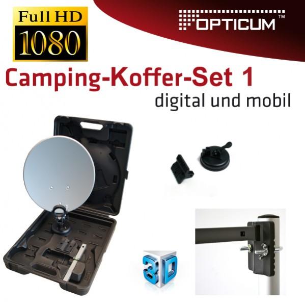 opticum camping koffer balkon anlage antenne 35cm sch ssel. Black Bedroom Furniture Sets. Home Design Ideas