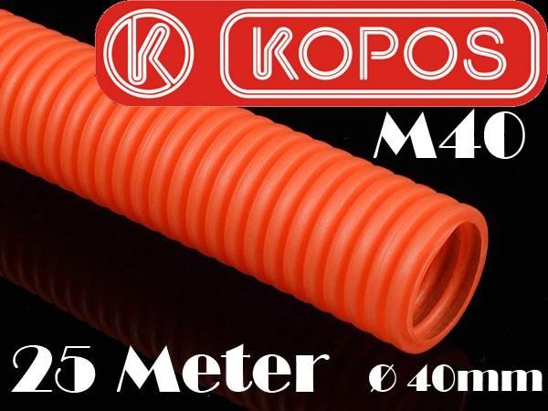 25m leerrohr wellrohr m40 orange flexibel 40mm kabelschutzrohr installationsrohr ebay. Black Bedroom Furniture Sets. Home Design Ideas