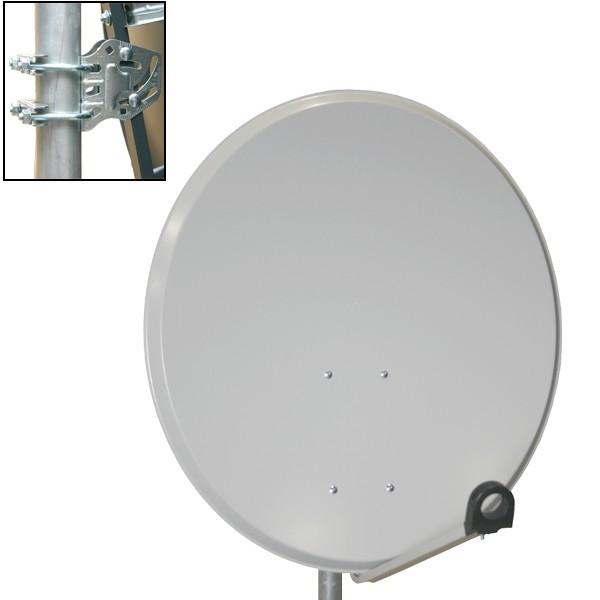 premiumx 45cm sat sch ssel spiegel antenne in hellgrau f r. Black Bedroom Furniture Sets. Home Design Ideas